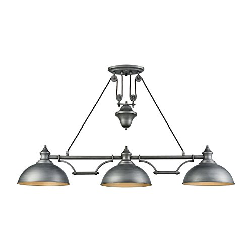 (Elk Lighting 65163-3 Close-to-Ceiling-Light-fixtures Gray)