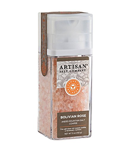 Bolivian Rose Andes Mountain Salt - Coarse - Artisan Ceramic Grinder - 5 (Bolivian Rose)