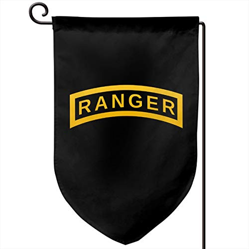 Foxdinner US Army Retro Ranger Tab Home Decoration Garden Flag 12.5 * 18 in (Double Side) Match Flag