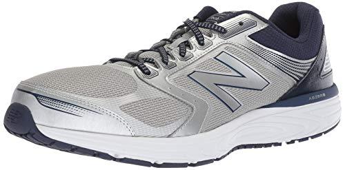 New Balance Men's 560v7 Cushioning Running Shoe, Silver/Pigment/Metallic, 13 D US (Mens Pigment)