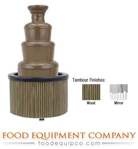 Buffet Enhancements Chocolate Fountain 35 Inch Tambour Decorative Skirting, Mirror Finish (Chocolate Fountain Buffet compare prices)