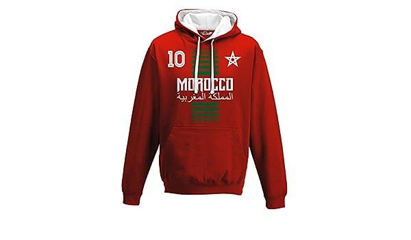 KiarenzaFD Sudadera con Capucha Bicolore Hombre Nacional Deporte Morocco  Marruecos Maroc 10 Futbol Deporte Africa Stella 1 Streetwear  Amazon.es   Deportes y ... 5c18509d4d26c