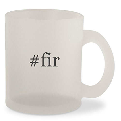 #fir - Hashtag Frosted 10oz Glass Coffee Cup Mug (Christmas Grande Tree Frasier)
