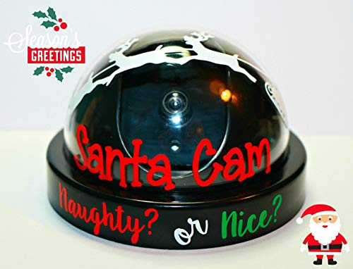 Santa Cam- Fake Santa Security Camera- Santa Surveillance with Real Flashing Red Light!!