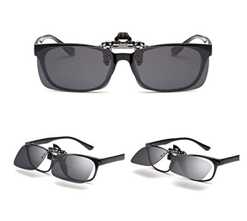 VF Hombre Polarizado Sol Flip Mujer Gafas GLS03 Unisex up Las en Clip ELSA ANNA amp; Negro de qw66Up