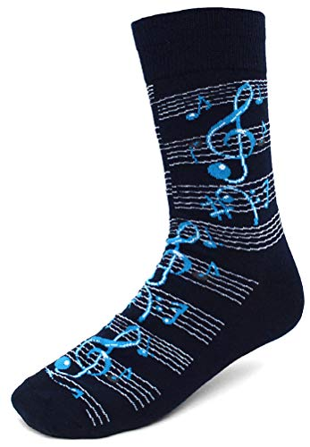 Men's Fun Crew Socks, Sock Size 10-13 / Shoe Size 6-12.5, Great Holiday/Birthday Gift (Musical (Best Music Teachers)