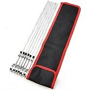Rubsy 10 peças de espetos de aço inoxidável para grelhar, palitos de agulha com bolsa de armazenamento para ch