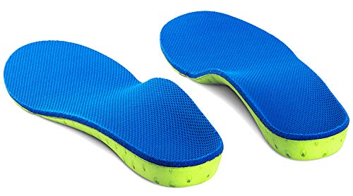High Arch Support Plantar Fasciitis Insoles Orthotic Inserts for Flat Feet and Over Pronation (L Women12-13.5 Men11-12.5)