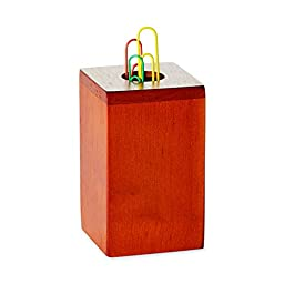 Rolodex Wood Tones Paper Clip Holder, Wood, 2.125 Inch Width x 2.125 Inch Depth x 3.5 Inch Height, Mahogany (23370)