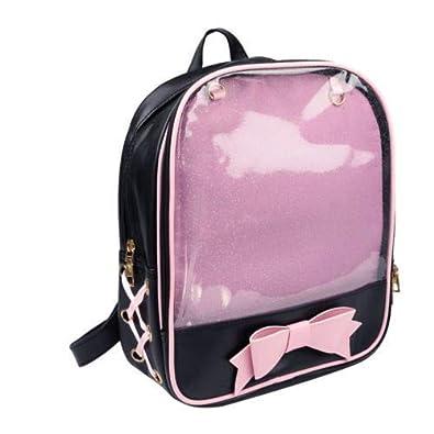6 Colors CLEAR ita bag Transparent Pin Display Backpack For Kids
