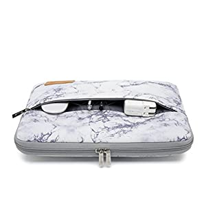 Canvaslife Marble pattern 360 degree protective 13 inch Canvas laptop sleeve with pocket 13 inch 13.3 inch laptop case macbook air 13 case macbook pro 13 sleeve