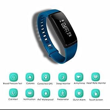 Actividad Tracker, Monitor de frecuencia cardíaca contador de calorías, llamada SMS WhatsApp reloj inteligente