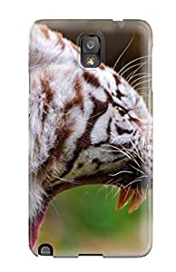 Tpu AshleyPWeber Shockproof Scratcheproof White Tiger Hard Case Cover For Galaxy Note 3