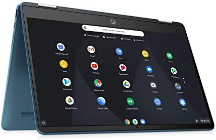 2021 HP X360 Chromebook,14inch 2-in-1 Convertible Touchscreen, Intel Celeron N4020 Processor Up to 2.80GHz, 4GB Ram, 64GB SSD, Webcam, Chrome OS, SDTK 16GB USB Drive (Renewed) (64GB SSD+16GB, Blue)
