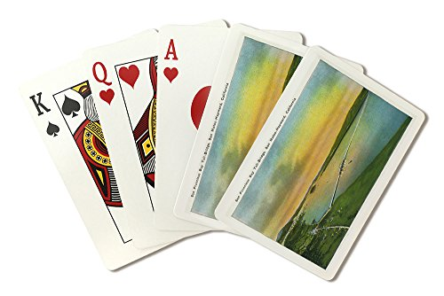 San Mateo, California - Aerial View of the Bay Bridge to Hayward (Playing Card Deck - 52 Card Poker Size with Jokers) ()