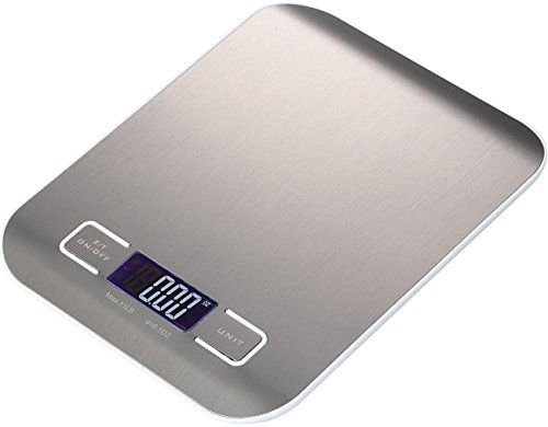 High Precision Measurement Accuracy Stainless Steel Digital Kitchen Scale Electronic Food Scale Range From 0.05oz (1g) to 11lbs 5kg (Batteries Included) ~ Cafolo (Model 0.05 Ounce)