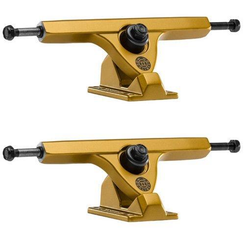 (Caliber Trucks II Fifty Caliber 184mm Hi Satin Gold Longboard Trucks 50 Degrees - 10