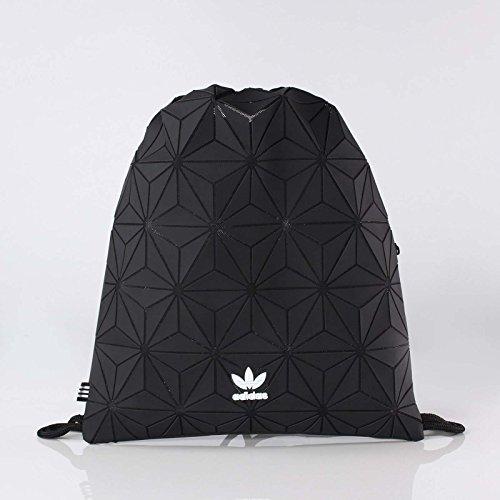 e82435be6f14 Galleon - Adidas Originals 3D Mesh Trefoil Black Diamond Print Gym Sack Bag  DH0209