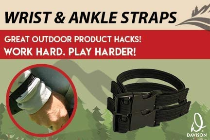 Adjustable 28 to 40 Inch Bungee Belt and Sleeve Guards For Wrists or Ankles