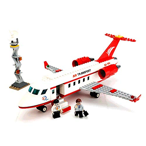 Aquaman Store Blocks - 334pcs City Airplane Toy Air Bus Model Airplane DIY Building Blocks Bricks Educational Toys for Children Gifts Legoings Plane 1 PCs ()