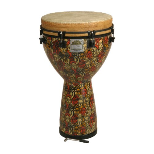 Remo Djembe, MONDO(TM), Key-Tuned, 14'' x 25'', SKYNDEEP FIBERSKYN, Contour Tuning Brackets, Multi-Mask Finish by Remo