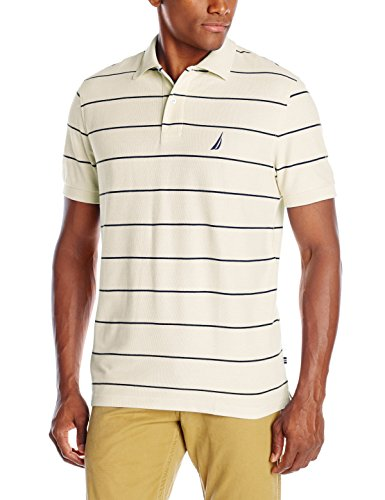 - Nautica Men's Stripe Deck Anchor Polo, Sail Cream, Medium