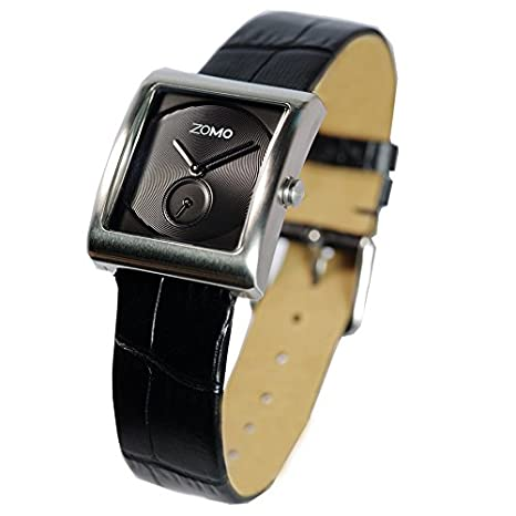 df4ea1226ac Amazon.com  ZOMO Aroma Luxury Watches for Women - Designer Watches Swiss  Quartz Square Watches with Silver Dial and Black Leather Strap  Watches