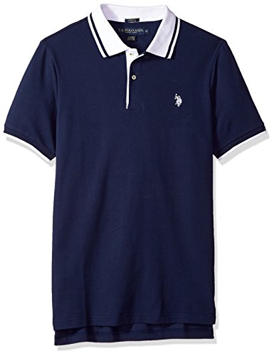U.S. Polo Assn. Men's Short Sleeve Classic Fit Solid Pique Polo Shirt, Classic Navy Kclk, L (Pique Mens Solid Polo)
