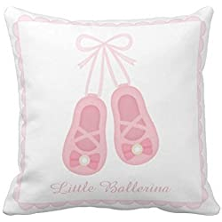 Elegant Ballerina Ballet Shoes Girls Room Decor Throw pillow case cover 20x20 Inches