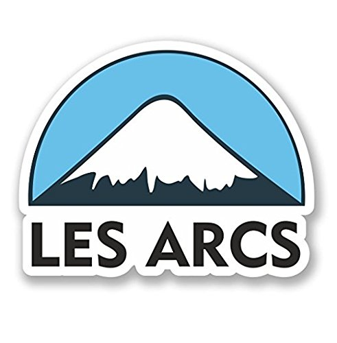 3 Pack - Les Arcs Ski Snowboard WINDOW CLING STICKER Car Van Campervan Glass - Sticker Graphic - Construction Toolbox, Hardhat, Lunchbox, Helmet, Mechanic, Luggage ()