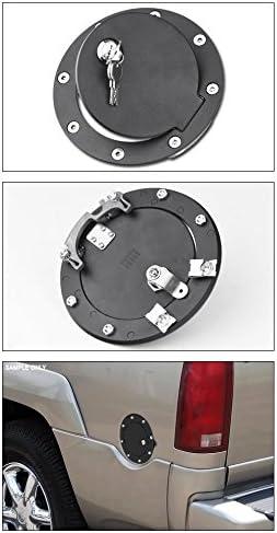 For 1988-2000 Chevy C//K C10 Truck//SUV Chrome Aluminum Fuel Gas Door Cover Lock