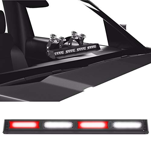 Striker TIR 4 Head LED Dash Light for Emergency Vehicles/Warning Strobe Deck/Dash Light Windshield Mount - Red/Clear Alternating