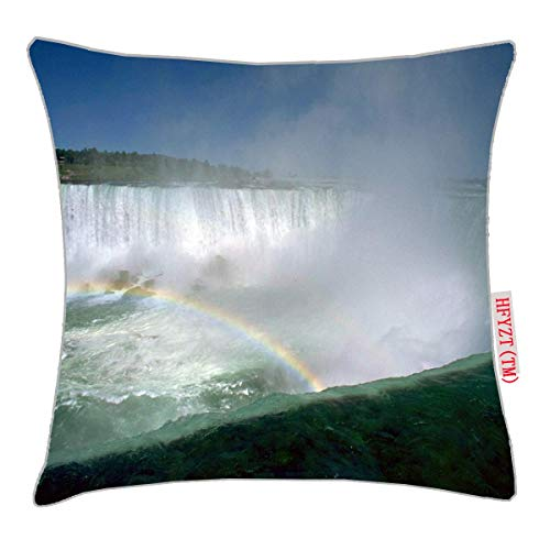 HFYZT Niagara Falls and Maid of The Mist, New York, USA Pillow Cover Standard Throw Pillowcase 18X18 Inch ()