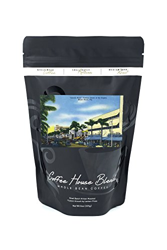Miami Beach, Florida - View down Lincoln Road (8oz Whole Bean Small Batch Artisan Coffee - Bold & Strong Medium Dark Roast w/ - Beach Miami Lincoln Road