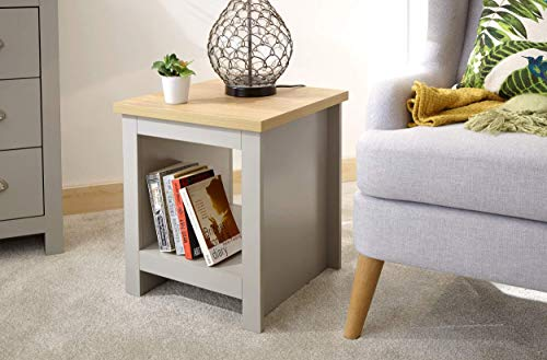 GFW – The Furniture Warehouse Lancaster Grey & Oak Coloured Occasional Range – Tables Sideboard Tv Cabinets#Side Table…