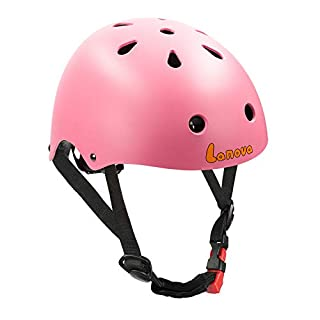 LANOVAGEAR Toddler Kids Helmet Adjustable CPSC Certified Helmet Impact Resistance Ventilation for Multi-Sports Cycling Skateboarding