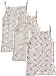 benetia Girls' Soft Cotton Undershirts 3-