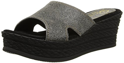 Sbicca Women's Starstruck Wedge Sandal,Pewter,9 B US