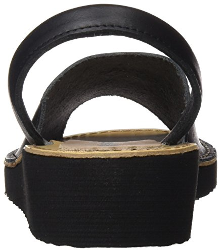 Menorquísima 8993552, Sandalias con Plataforma Plana para Mujer Negro (Black)
