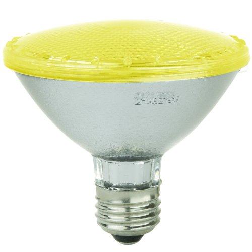 Sunlite 80025-SU PAR30/92LED/3W/Y LED 120-volt 3-watt Medium Based PAR30 Lamp, Yellow (Bug Light) (Bulbs Fluorescent Compact Light Recycling)