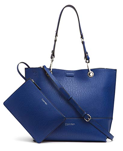 (Calvin Klein Sonoma Reversible Novelty North/South Tote, Retro Blue)