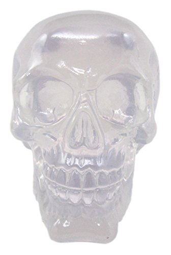Atlantic Collectibles Occultic Witchcraft Shrine Clear Acrylic Resin Translucent Skull Decorative Figurine 6