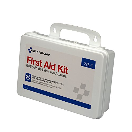 Emergency Osha Eye Wash (First Aid Only 25 Person Bulk First Aid Kit, 107-Piece Kit)