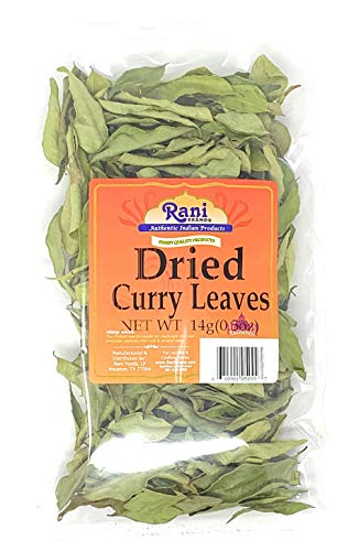 Rani Dried Curry Leaves (Neem Patha) 0.5oz (14g) All Natural   Gluten Free Ingredients   NON-GMO