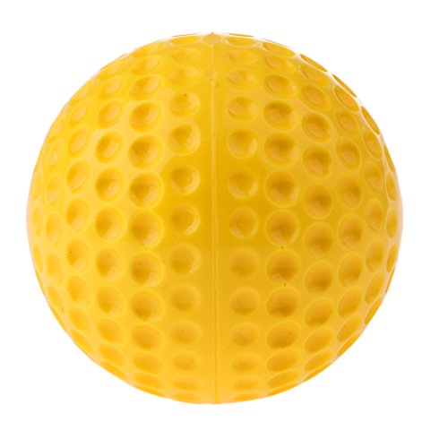 (MagiDeal Premium 9 inch Standard Yellow PU Dimpled Pitching Machine Baseball Bat Sports Training Aid Accessories)