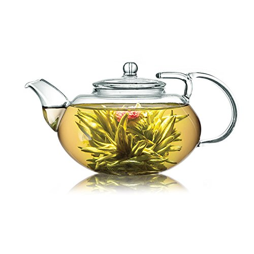 Blooming, Flowering, Jasmine, Lily, Butterfly and Dragon Playing with Pearls Delicious Tea