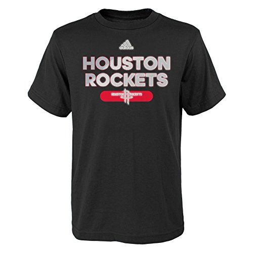 NBA Reflective Authentic Short Sleeve Tee-Black-S(8), Houston Rockets Adidas Houston Rockets Short Sleeve T-shirt