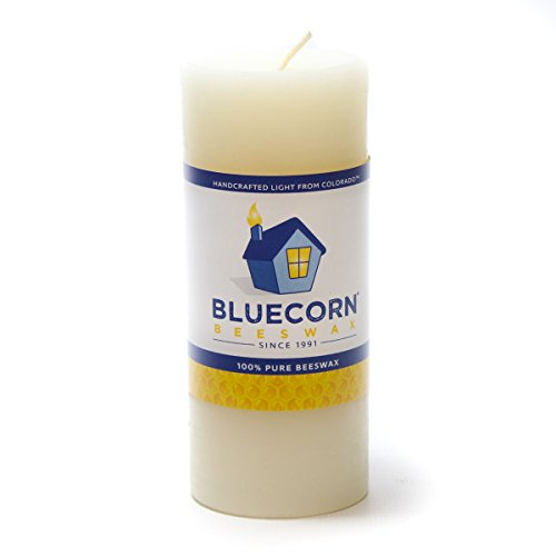 2x4.5, Well Being: Ylang Ylang, Cedarwood, Nutmeg /& Lavender Bluecorn Beeswax 100/% Pure Beeswax Aromatherapy Pillar Candle