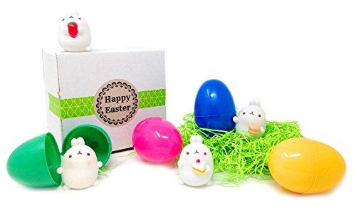 Kawaii Easter Bunny Mini Figure Eggs Set Of 4 Gift Boxed