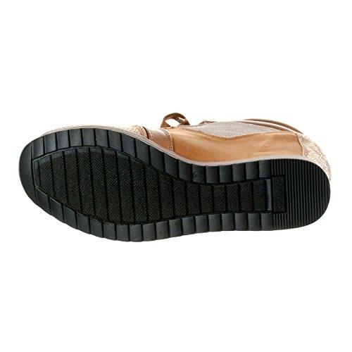 Voor Altijd Koppelen Dames Shea-42 Fashion Wedge Sneakers Goud